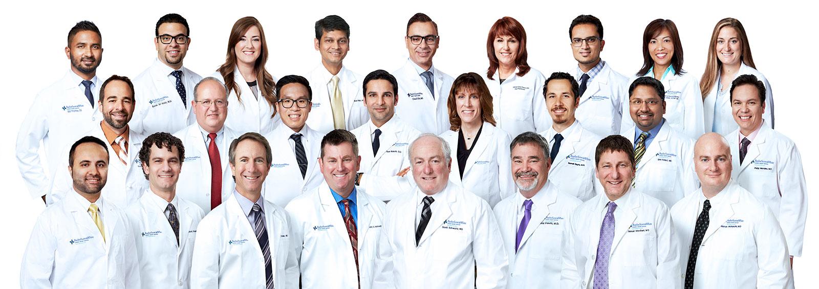 Baylor Scott & White Legacy Heart Center doctors group photo