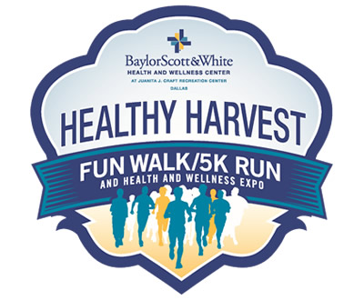 Logo for Healthy Harvest Fun Walk/5K Run and Health and Wellness Expo