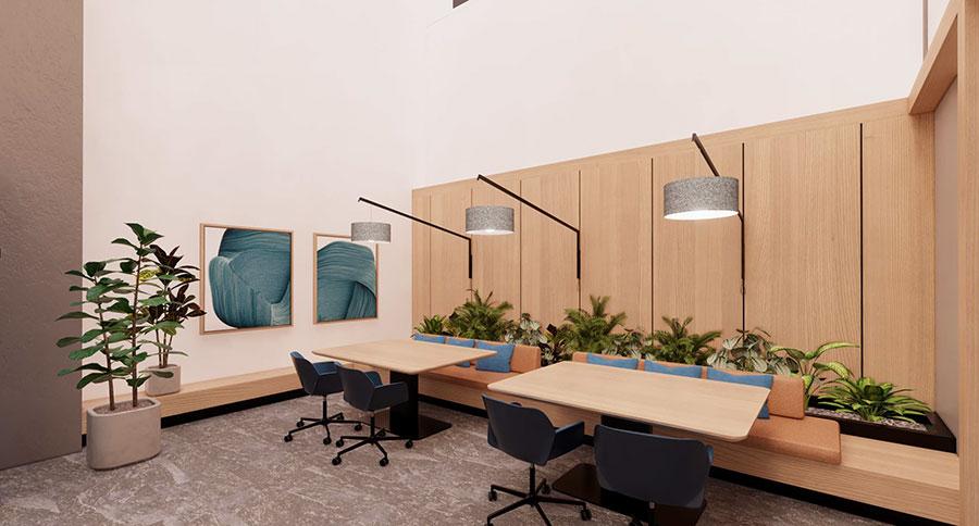 Working lounge (casual dining setup)